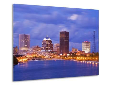 Genesee River and Rochester Skyline, New York State, United States of America, North America-Richard Cummins-Metal Print