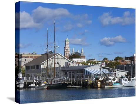 Gloucester Inner Harbor, Cape Ann, Greater Boston Area, Massachusetts, New England, USA-Richard Cummins-Stretched Canvas Print