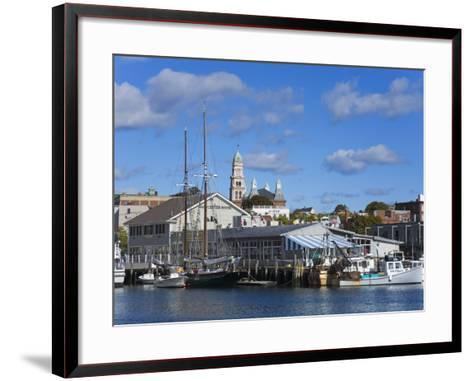 Gloucester Inner Harbor, Cape Ann, Greater Boston Area, Massachusetts, New England, USA-Richard Cummins-Framed Art Print