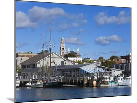 Gloucester Inner Harbor, Cape Ann, Greater Boston Area, Massachusetts, New England, USA-Richard Cummins-Mounted Photographic Print