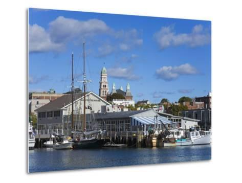Gloucester Inner Harbor, Cape Ann, Greater Boston Area, Massachusetts, New England, USA-Richard Cummins-Metal Print