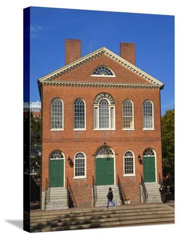 Old Town Hall, Salem, Greater Boston Area, Massachusetts, New England, USA-Richard Cummins-Stretched Canvas Print