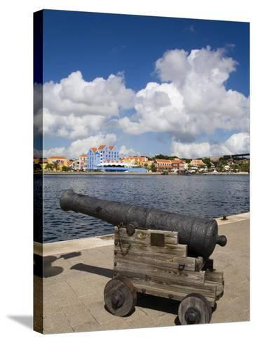 Cannon, Punda District, Willemstad, Curacao, Netherlands Antilles, West Indies, Caribbean-Richard Cummins-Stretched Canvas Print