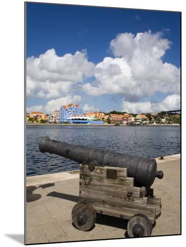Cannon, Punda District, Willemstad, Curacao, Netherlands Antilles, West Indies, Caribbean-Richard Cummins-Mounted Photographic Print
