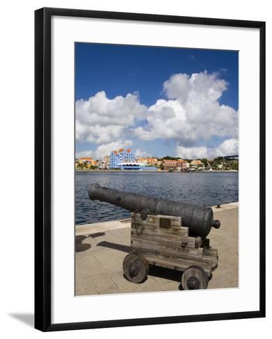 Cannon, Punda District, Willemstad, Curacao, Netherlands Antilles, West Indies, Caribbean-Richard Cummins-Framed Art Print
