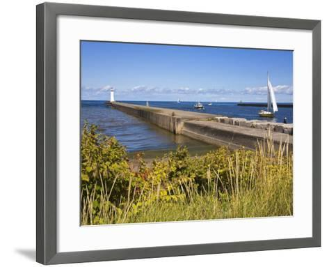 Outer Sodus Lighthouse, Greater Rochester Area, New York State, USA-Richard Cummins-Framed Art Print