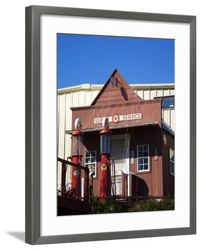 1920's Filling Station, Historic Route 66, Luther, Oklahoma, USA-Richard Cummins-Framed Art Print