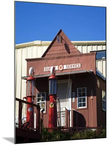 1920's Filling Station, Historic Route 66, Luther, Oklahoma, USA-Richard Cummins-Mounted Photographic Print