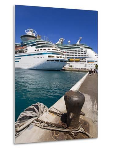 Cruise Ships at Prince George Wharf, Nassau, New Providence Island, Bahamas, West Indies-Richard Cummins-Metal Print