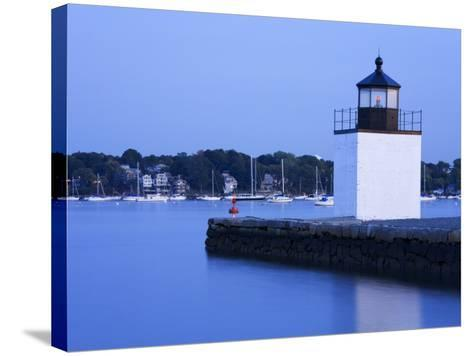 Derby Wharf Lighthouse, Salem, Greater Boston Area, Massachusetts, New England, USA-Richard Cummins-Stretched Canvas Print