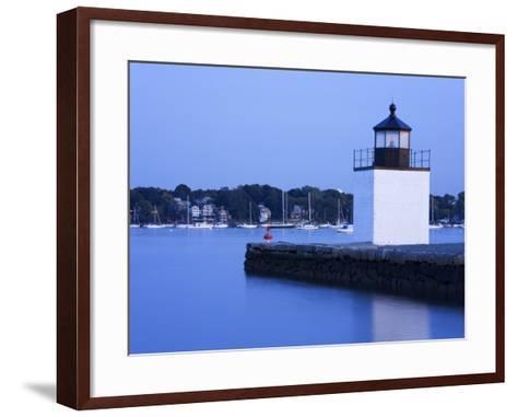 Derby Wharf Lighthouse, Salem, Greater Boston Area, Massachusetts, New England, USA-Richard Cummins-Framed Art Print