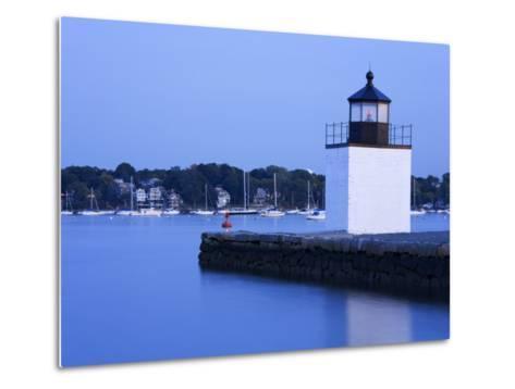 Derby Wharf Lighthouse, Salem, Greater Boston Area, Massachusetts, New England, USA-Richard Cummins-Metal Print
