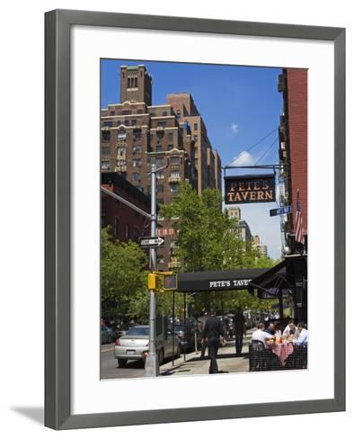 Pete's Tavern on Irving Place, Gramercy Park District, Manhattan, New York City, Ny, USA-Richard Cummins-Framed Art Print
