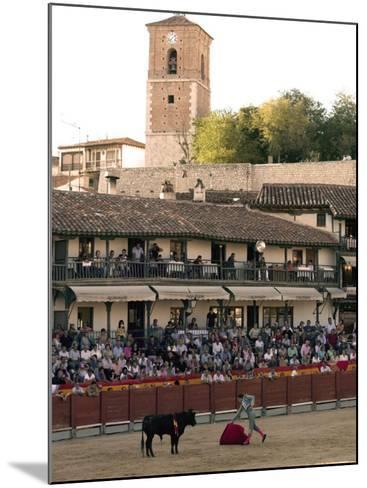 Young Bulls in the Main Square Used as the Plaza De Toros, Chinchon, Comunidad De Madrid, Spain-Marco Cristofori-Mounted Photographic Print