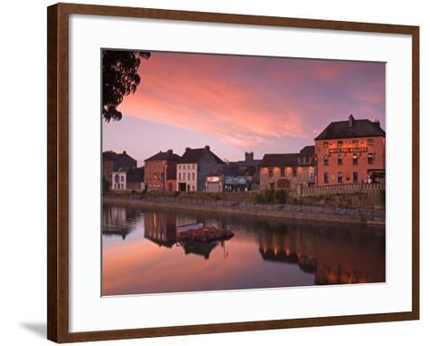 John's Quay and River Nore, Kilkenny City, County Kilkenny, Leinster, Republic of Ireland, Europe-Richard Cummins-Framed Art Print