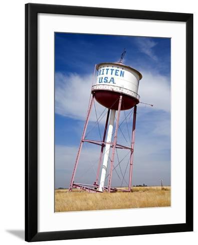 Leaning Tower of Texas, Historic Route 66 Landmark, Groom, Texas, USA-Richard Cummins-Framed Art Print