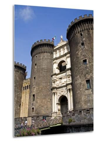 Entrance to Nuovo Castle, Naples, Campania, Italy, Europe-Richard Cummins-Metal Print