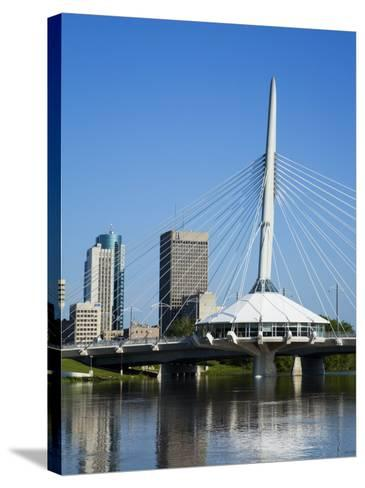 Esplanade Riel Pedestrian Bridge, Winnipeg, Manitoba, Canada, North America-Richard Cummins-Stretched Canvas Print