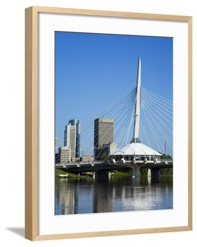 Esplanade Riel Pedestrian Bridge, Winnipeg, Manitoba, Canada, North America-Richard Cummins-Framed Art Print
