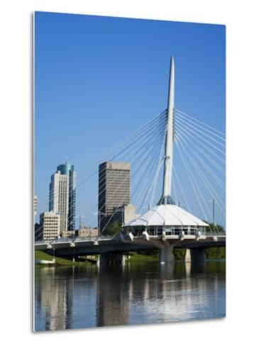 Esplanade Riel Pedestrian Bridge, Winnipeg, Manitoba, Canada, North America-Richard Cummins-Metal Print