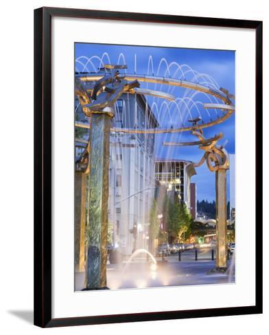 Riverfront Park Fountain, Spokane, Washington State, United States of America, North America-Richard Cummins-Framed Art Print