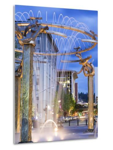 Riverfront Park Fountain, Spokane, Washington State, United States of America, North America-Richard Cummins-Metal Print