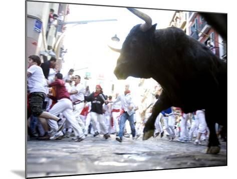 Running of the Bulls, San Fermin Festival, Pamplona, Navarra, Spain, Europe-Marco Cristofori-Mounted Photographic Print