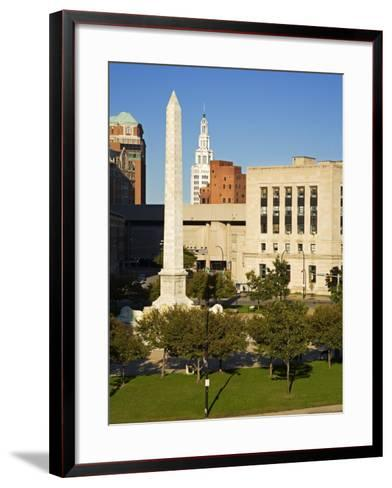 Mckinley Monument in Niagara Square, Buffalo City, New York State, USA-Richard Cummins-Framed Art Print