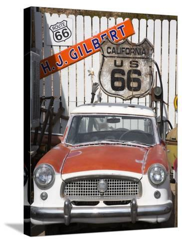 Memorabilia, Route 66 Motel, Barstow, California, United States of America, North America-Richard Cummins-Stretched Canvas Print