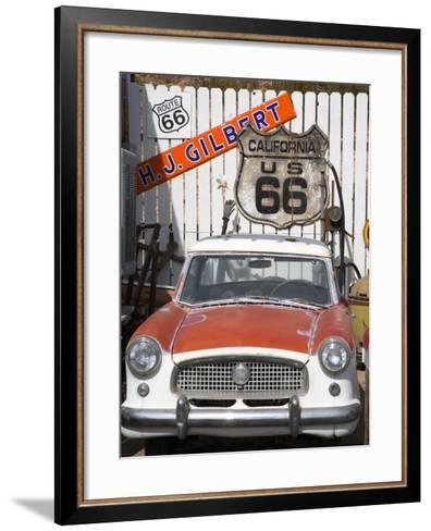 Memorabilia, Route 66 Motel, Barstow, California, United States of America, North America-Richard Cummins-Framed Art Print