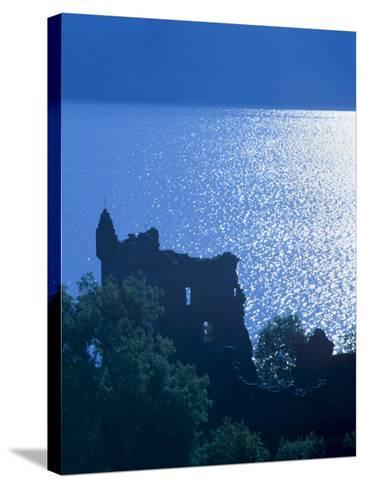 Urquhart Castle, Built in the 13th Century, Shores of Loch Ness, Highland Region, Scotland-Patrick Dieudonne-Stretched Canvas Print