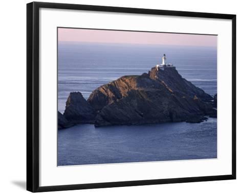 Muckle Flugga and its Lighthouse, Hermaness Nature Reserve, Unst, Shetland Islands, Scotland-Patrick Dieudonne-Framed Art Print