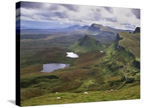 Slopes of the Quiraing, Northeast Coast of Trotternish Peninsula, Isle of Skye, Scotland-Patrick Dieudonne-Stretched Canvas Print