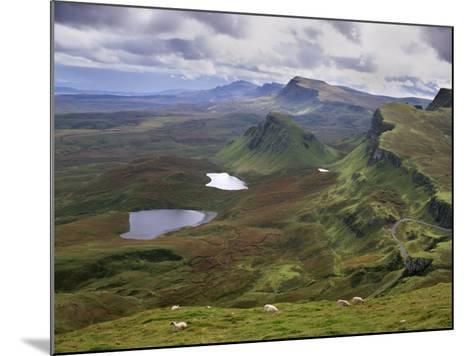 Slopes of the Quiraing, Northeast Coast of Trotternish Peninsula, Isle of Skye, Scotland-Patrick Dieudonne-Mounted Photographic Print