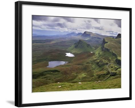 Slopes of the Quiraing, Northeast Coast of Trotternish Peninsula, Isle of Skye, Scotland-Patrick Dieudonne-Framed Art Print