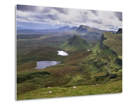 Slopes of the Quiraing, Northeast Coast of Trotternish Peninsula, Isle of Skye, Scotland-Patrick Dieudonne-Metal Print