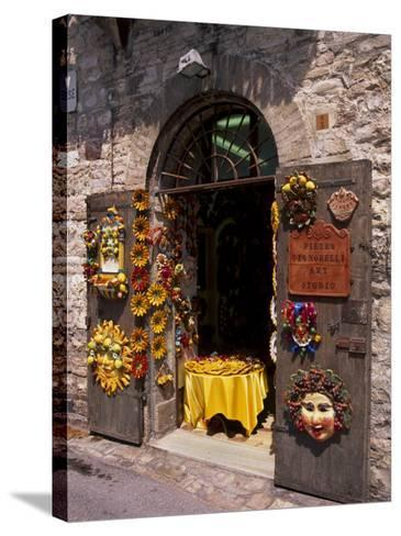 Artist's Shop, Assisi, Umbria, Italy, Europe-Patrick Dieudonne-Stretched Canvas Print