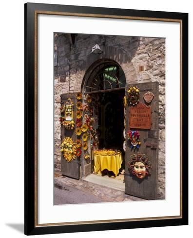 Artist's Shop, Assisi, Umbria, Italy, Europe-Patrick Dieudonne-Framed Art Print