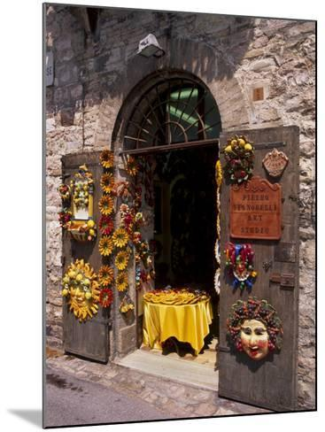 Artist's Shop, Assisi, Umbria, Italy, Europe-Patrick Dieudonne-Mounted Photographic Print