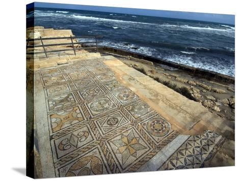 Mosaic at the Seaward Bath, Roman Site of Sabratha, UNESCO World Heritage Site, Libya-Ethel Davies-Stretched Canvas Print