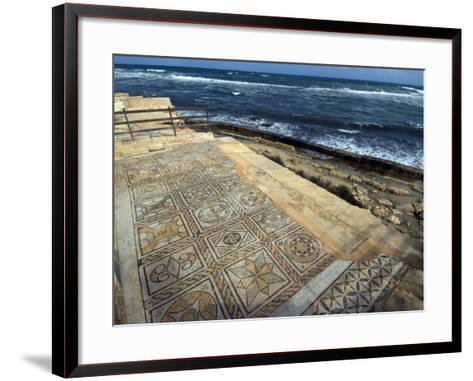 Mosaic at the Seaward Bath, Roman Site of Sabratha, UNESCO World Heritage Site, Libya-Ethel Davies-Framed Art Print