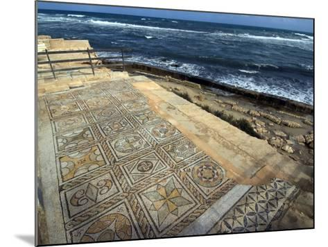 Mosaic at the Seaward Bath, Roman Site of Sabratha, UNESCO World Heritage Site, Libya-Ethel Davies-Mounted Photographic Print