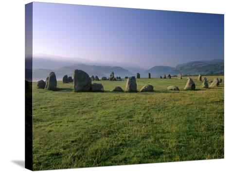 Castlerigg Stone Circle at Dawn, Near Keswick, Lake District National Park, Cumbria, England-Patrick Dieudonne-Stretched Canvas Print