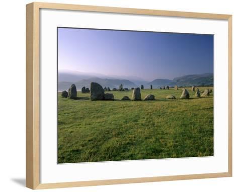 Castlerigg Stone Circle at Dawn, Near Keswick, Lake District National Park, Cumbria, England-Patrick Dieudonne-Framed Art Print