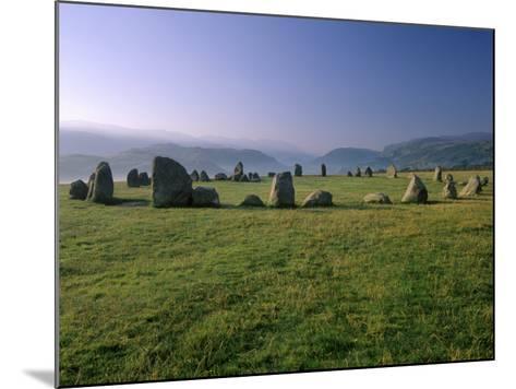 Castlerigg Stone Circle at Dawn, Near Keswick, Lake District National Park, Cumbria, England-Patrick Dieudonne-Mounted Photographic Print
