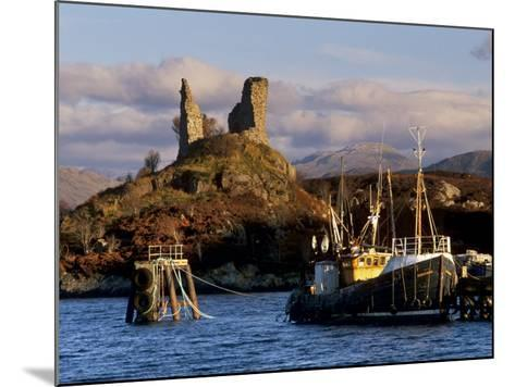 Ruins of Castle Moil and Fishing Harbour at Kyleakin, Skye, Inner Hebrides, Highlands, Scotland-Patrick Dieudonne-Mounted Photographic Print