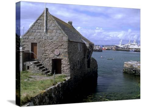 Bremen Bod, 17th Century Hanseatic Trading Booth, Symbister, Whalsay, Shetland Islands, Scotland-Patrick Dieudonne-Stretched Canvas Print