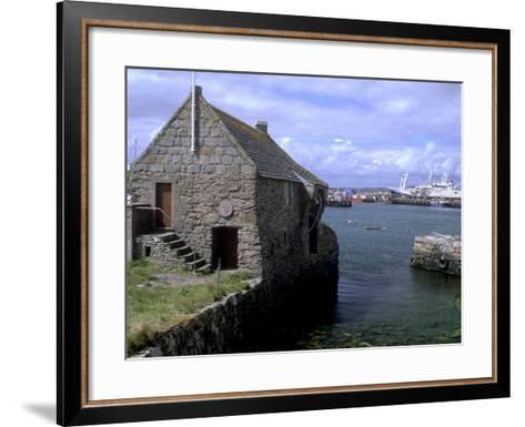 Bremen Bod, 17th Century Hanseatic Trading Booth, Symbister, Whalsay, Shetland Islands, Scotland-Patrick Dieudonne-Framed Art Print