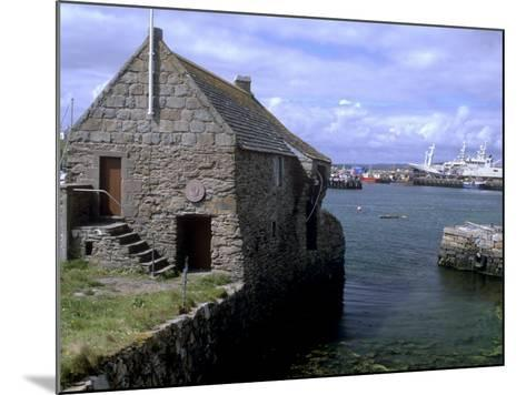 Bremen Bod, 17th Century Hanseatic Trading Booth, Symbister, Whalsay, Shetland Islands, Scotland-Patrick Dieudonne-Mounted Photographic Print