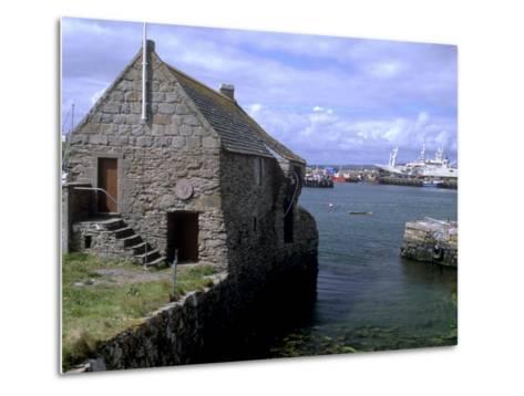 Bremen Bod, 17th Century Hanseatic Trading Booth, Symbister, Whalsay, Shetland Islands, Scotland-Patrick Dieudonne-Metal Print